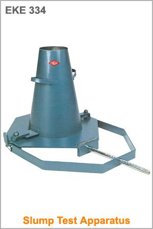 Slump Test Apparatus : Concrete Technology, Testing Equipments ...
